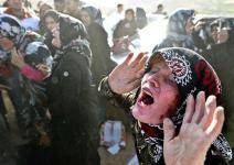 (تصاویر) سوگواران داغدیده زلزله